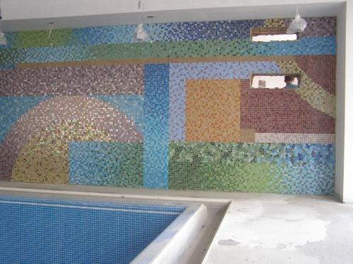 Egyedi üvegmozaik fal
