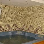 Jacuzzitér mozaikburkolata
