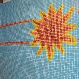 Nap motívum üvegmozaikból