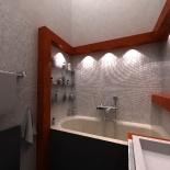Fürdőszoba számítógépes látványterve