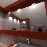 Üvegmozaikos fürdőszoba látványterve