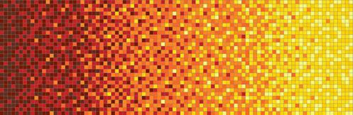 Sárga mozaikátmenet számítógépes terve