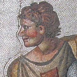 Mozaiktöredék a bizánci kultúrából