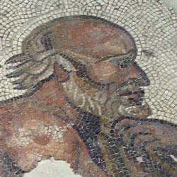 Mozaiktöredék a római kultúrából