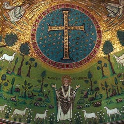 Mozaik díszítés a VI.századból