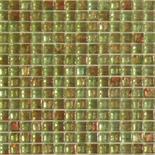 KG05 világoszöld arannyal futtatott üvegmozaik 1x1