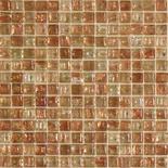 KG09 világosbarna arannyal futtatott üvegmozaik 1x1