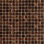 KG24 barna arannyal futtatott üvegmozaik 1x1