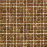 KG26 zöldesbarna arannyal futtatott üvegmozaik 1x1