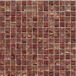 KG86 bordó arannyal futtatott üvegmozaik 1x1