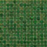 XG26 sötétzöld arannyal futtatott üvegmozaik 1x1
