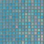 R16 türkizkék gyöngyházfényű üvegmozaik 1x1