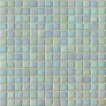 R22 világoszöld gyöngyházfényű üvegmozaik 1x1