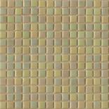 R30 halványsárga gyöngyházfényű üvegmozaik 1x1