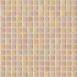 R83 halványrózsaszín gyöngyházfényű üvegmozaik 1x1