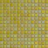 R90 sárga gyöngyházfényű üvegmozaik 1x1