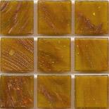 KG38  arannyal futtatott márványos üvegmozaik